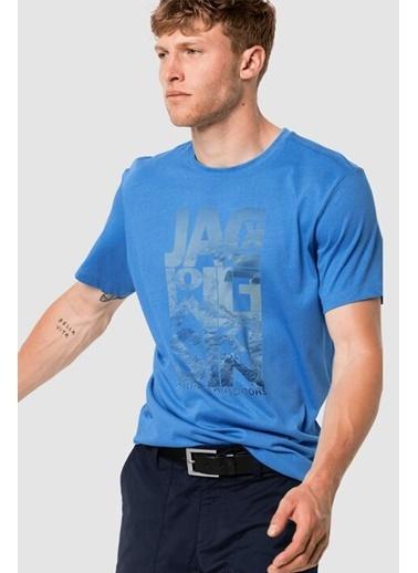Jack Wolfskin Atlantic Ocean Erkek Outdoor Tişört Mavi Mavi